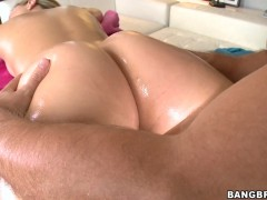 Alexis Texas gets more than a rub down on the massage table