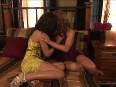 Alyssa Reece and Shayla Laveaux in hot lesbian sex
