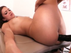 Alyssa Reece getting drilled hard by her doctor
