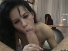 Amabella and hard dicked bang buddy Rocco Siffredi do wild things in anal action before she gives head