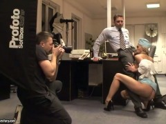 Amazing office fucking with astounding slut Jenny