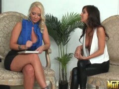 April Oneil and Molly Cavalli having a hot conversation