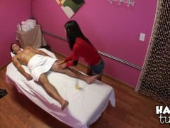Aron Matthews is getting a hot sexy massage by Kim Kong