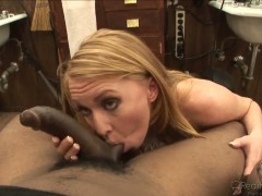 Blonde Ami Emerson enjoys in giving head to Tyler Knight