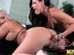 Blonde India Summer licking Molly Cavallis wet spot like it aint no thing in steamy lesbian action