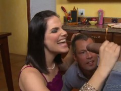 Bobbi Starr,Jimmy Broadway and Sledge Hammer in kitchen