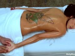 Breanne Benson gets massaged by filthy Mick Blue