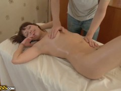 Brunette Michele gets skull pounded the way she loves it