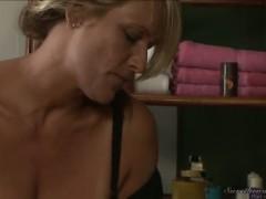 Debi Diamond and Erica Lauren are hot mature woman in this great lesbian scene.