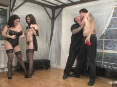 Derrick Paul sucks cock as the girls play naughty