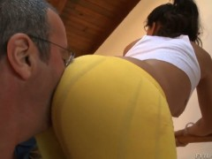 Glammed up doll Jynx Maze cant live a day without getting fucked by hard cocked guy John Stagliano