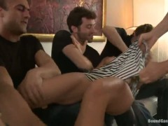 James Deen,Sandra Romain and Steve Holmes in hot, rough BDSM fantasy role play.
