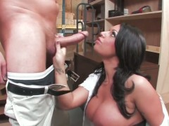 Kerry Louise finds her mouth filled with dudes stiff sausage
