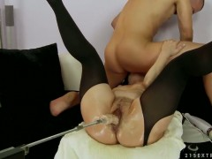 Margo T. with giant jugs and her horny bang buddy are in the mood for oral sex