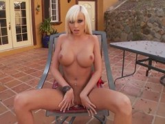 Rikki Six with big knockers shows every inch of her body before her plays with herself on cam