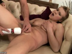 Blonde Chicky Clarissa is ready to fuck all day long with hot dude