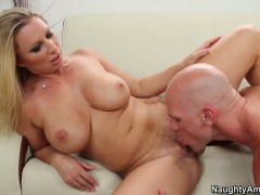Devon Lee with juicy booty gets her muff pie boned by Johnny Sins