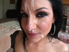 Tori Lux finds it exciting to be face fucked by Jonni Darkko in front of the camera